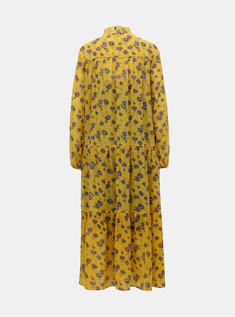 Žlté kvetované maxišaty 2v1 VILA Amala