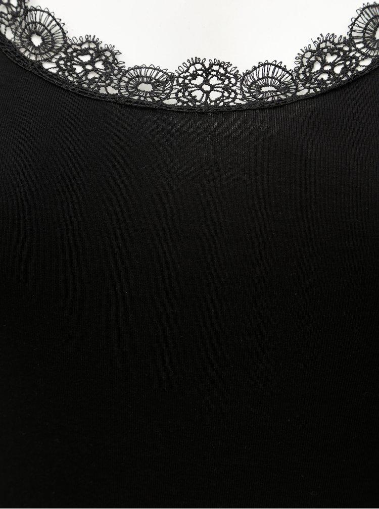 Maiou negru cu detalii din dantela ONLY CARMACOMA Day