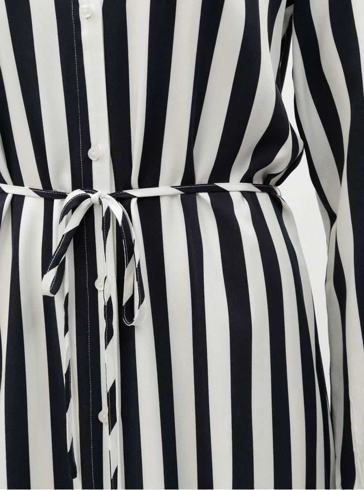 Modro-bílé pruhované košilové šaty VILA Sommi
