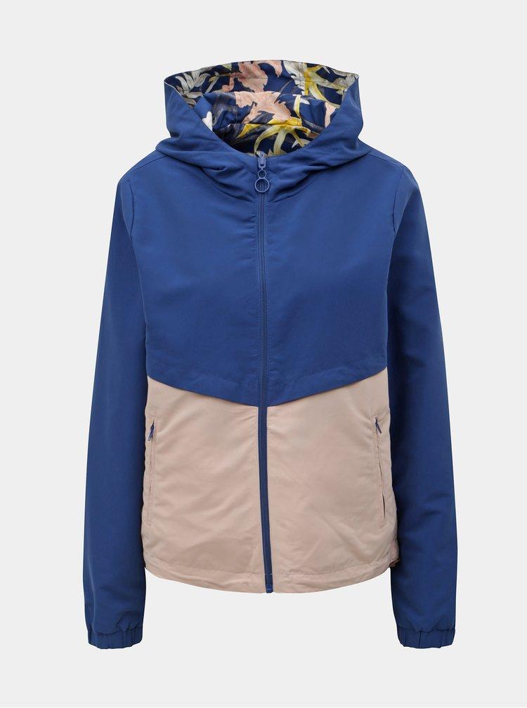 Jacheta roz-albastru reversibila lejera ONLY New Jazz