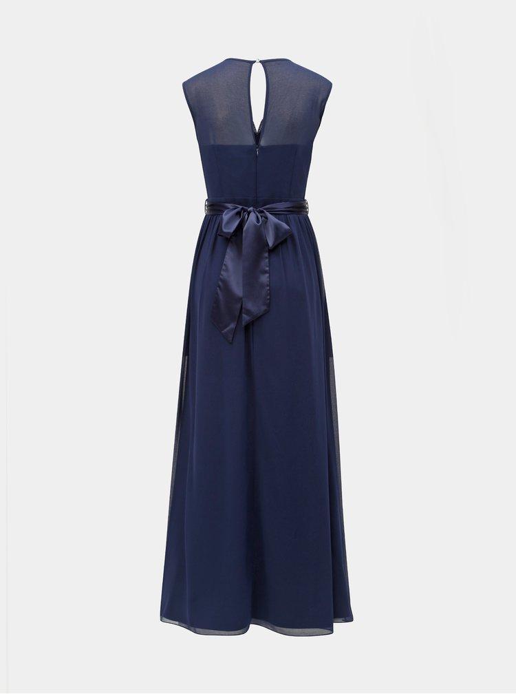 Tmavě modré maxišaty s ozdobnými detaily Dorothy Perkins