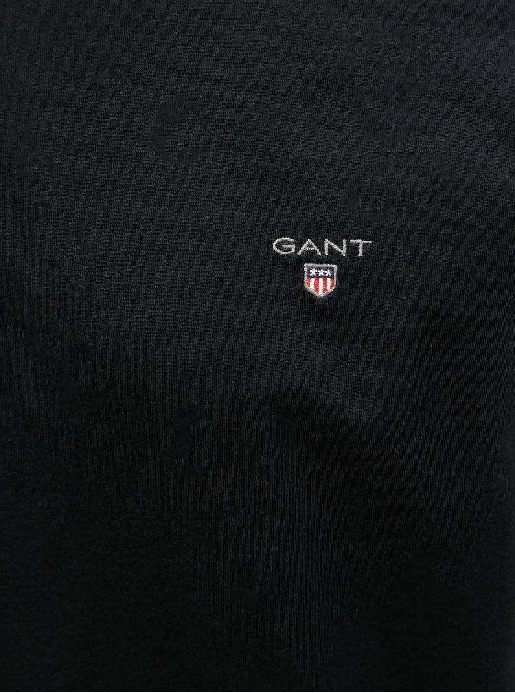 Černé pánské slim tričko GANT