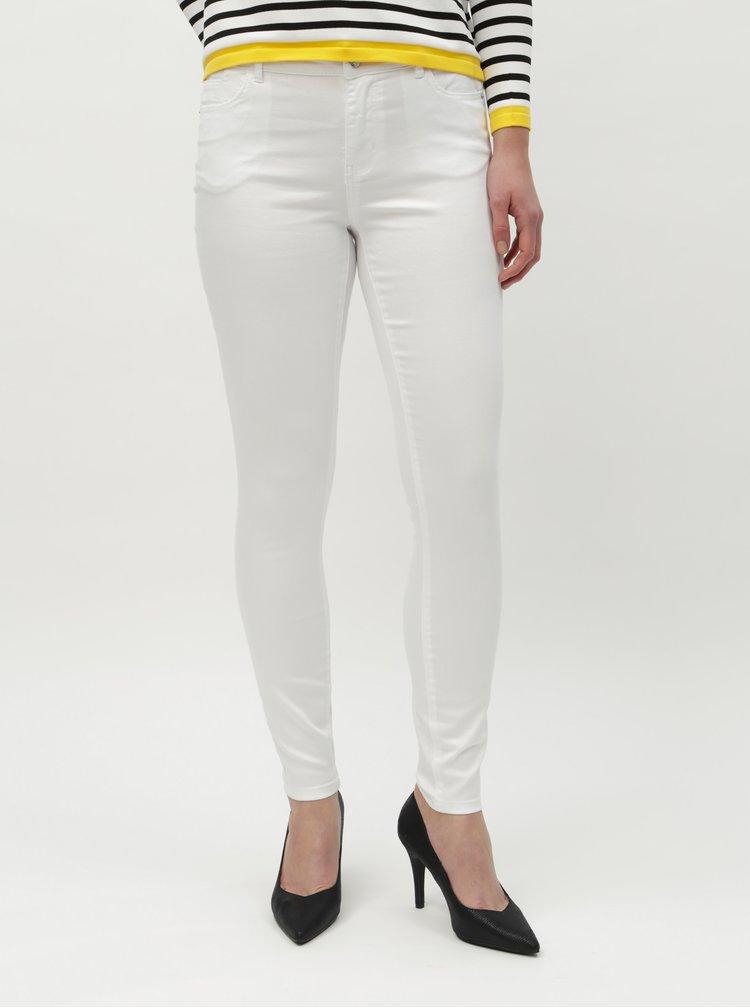 Bílé slim džíny VERO MODA Julia