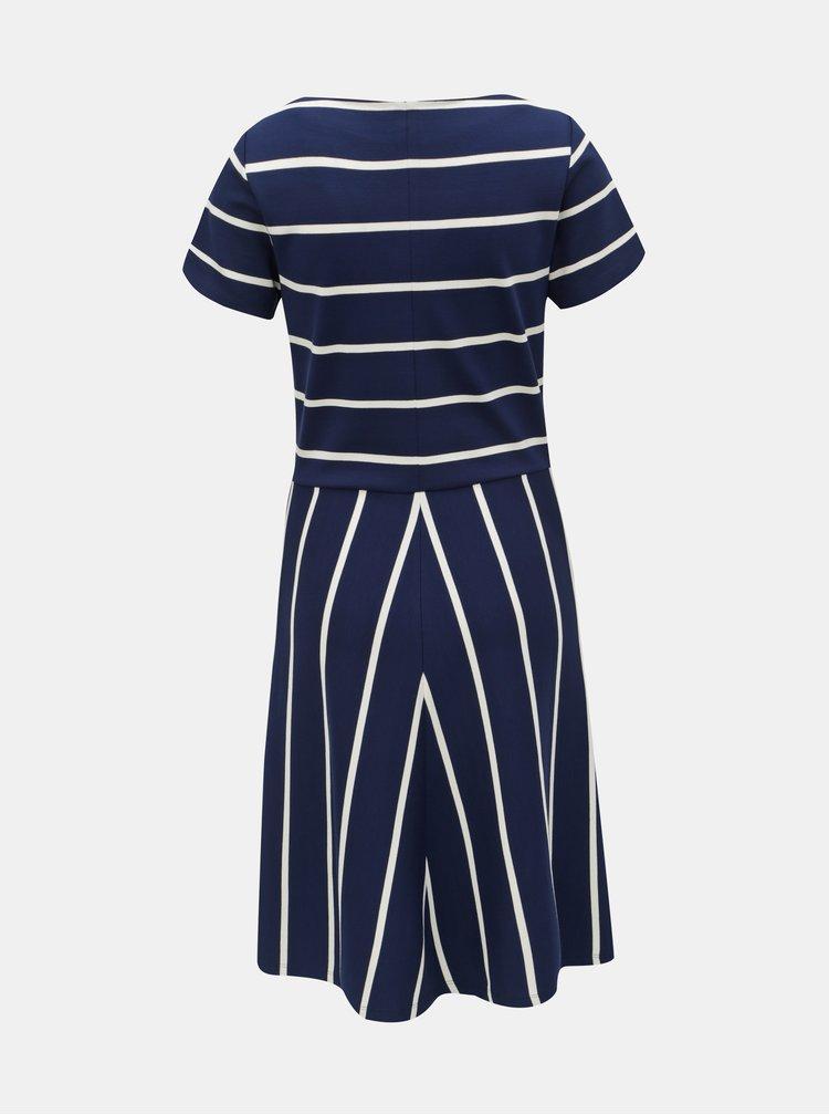 Tmavě modré pruhované šaty GANT