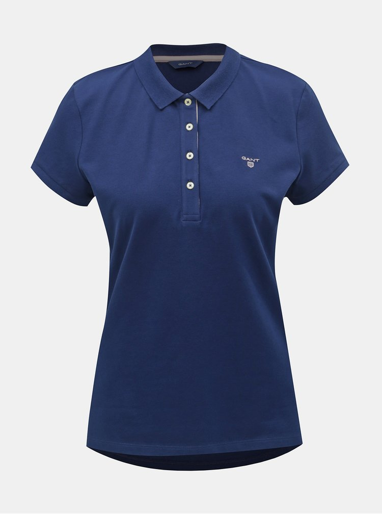 Tmavě modré dámské basic polo tričko GANT