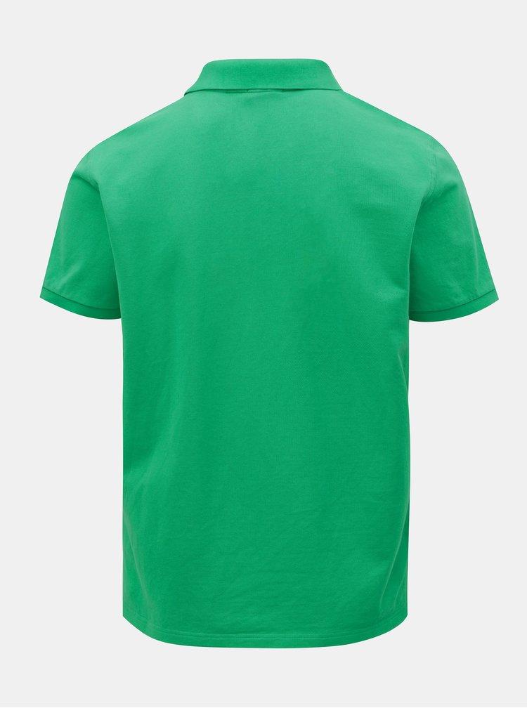 Zelené pánské basic polo tričko GANT