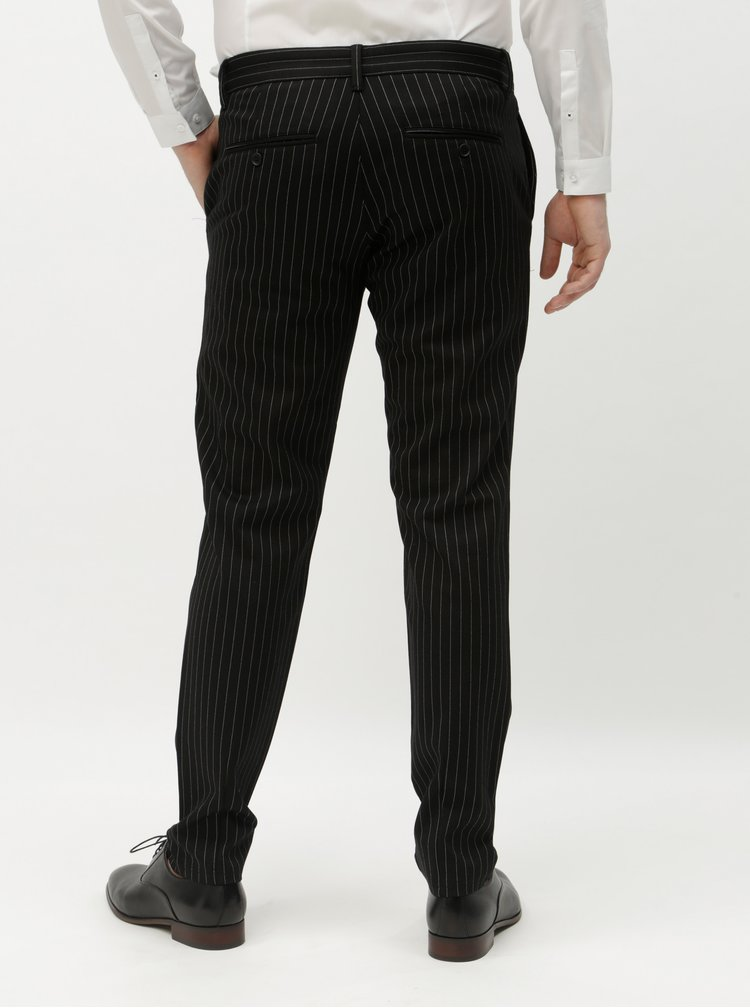 Pantaloni negri in dungi ONLY & SONS Mark
