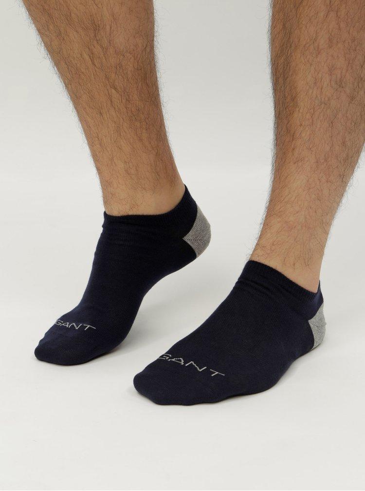 Sada dvou párů červených a modrých nízkých ponožek GANT