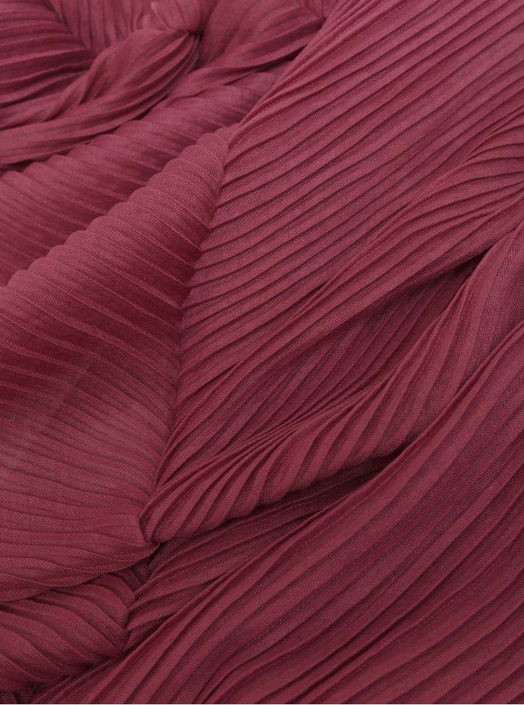 Esarfa bordo plisata Pieces Lamilla
