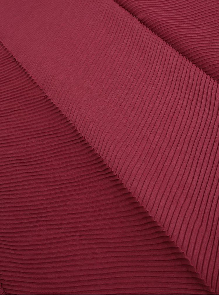 Vínový plisovaný šátek Pieces Lamilla