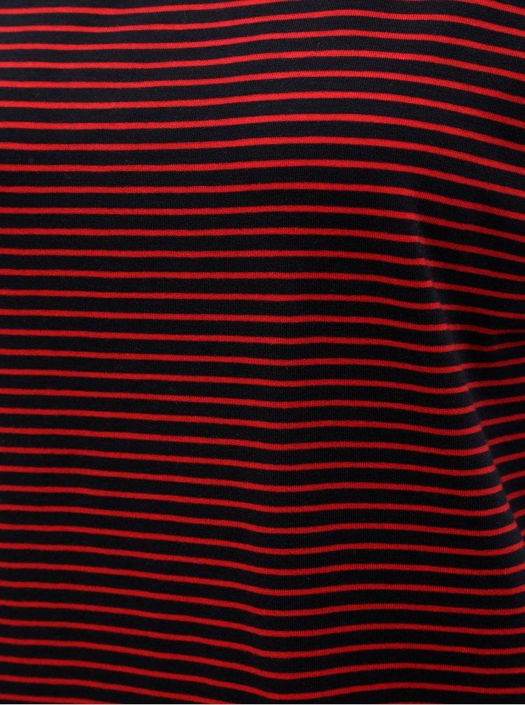 Tricou basic rosu-albastru in dungi AWARE by VERO MODA Mava