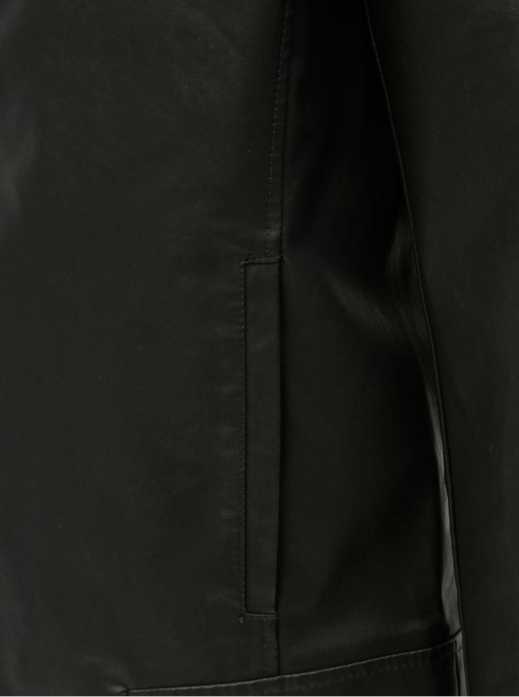 Černý koženkový křivák ONLY & SONS Mike