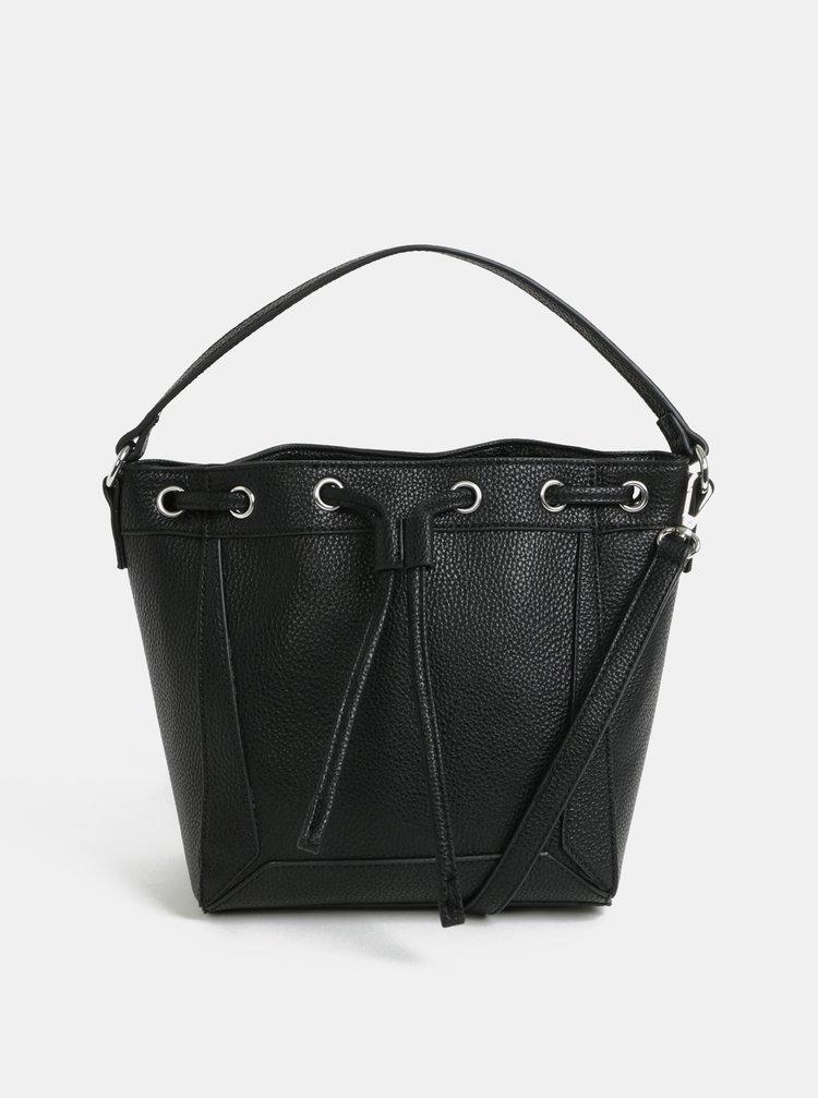 Černá vaková kabelka Pieces Balbina