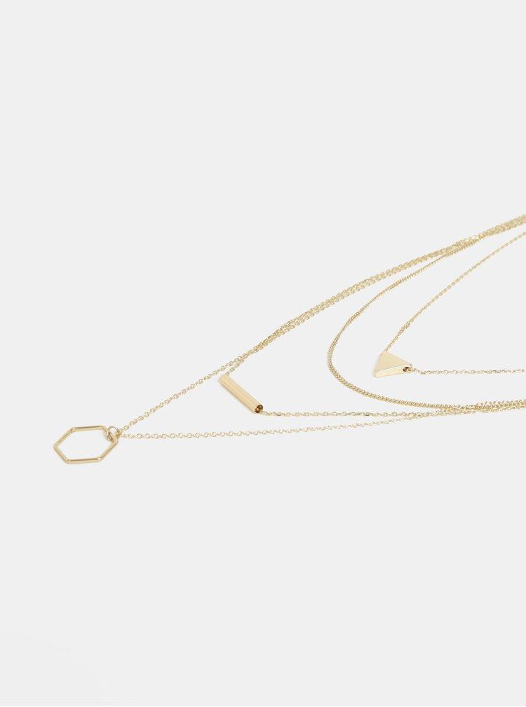 Náhrdelník ve zlaté barvě Pieces Lexago