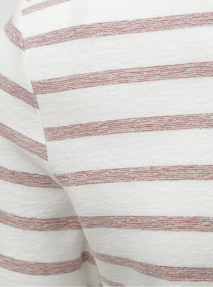 Tricou rosu-crem in dungi ONLY & SONS Marvin
