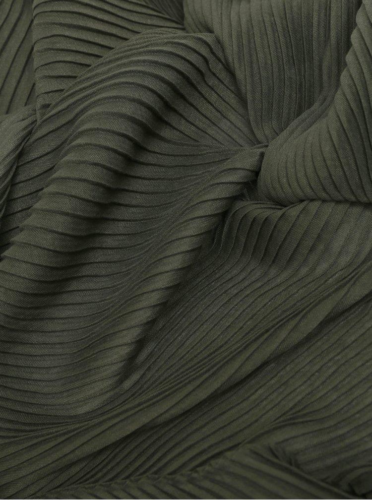 Esarfa verde inchis plisata Pieces Lamilla