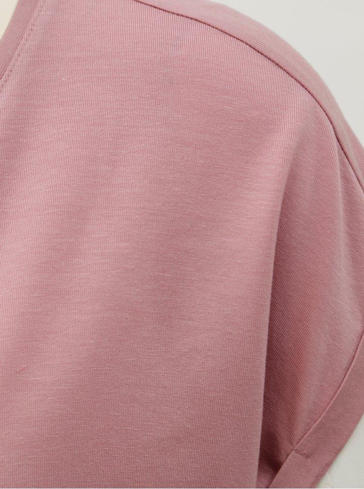 Starorůžové volné basic tričko AWARE by VERO MODA Mava