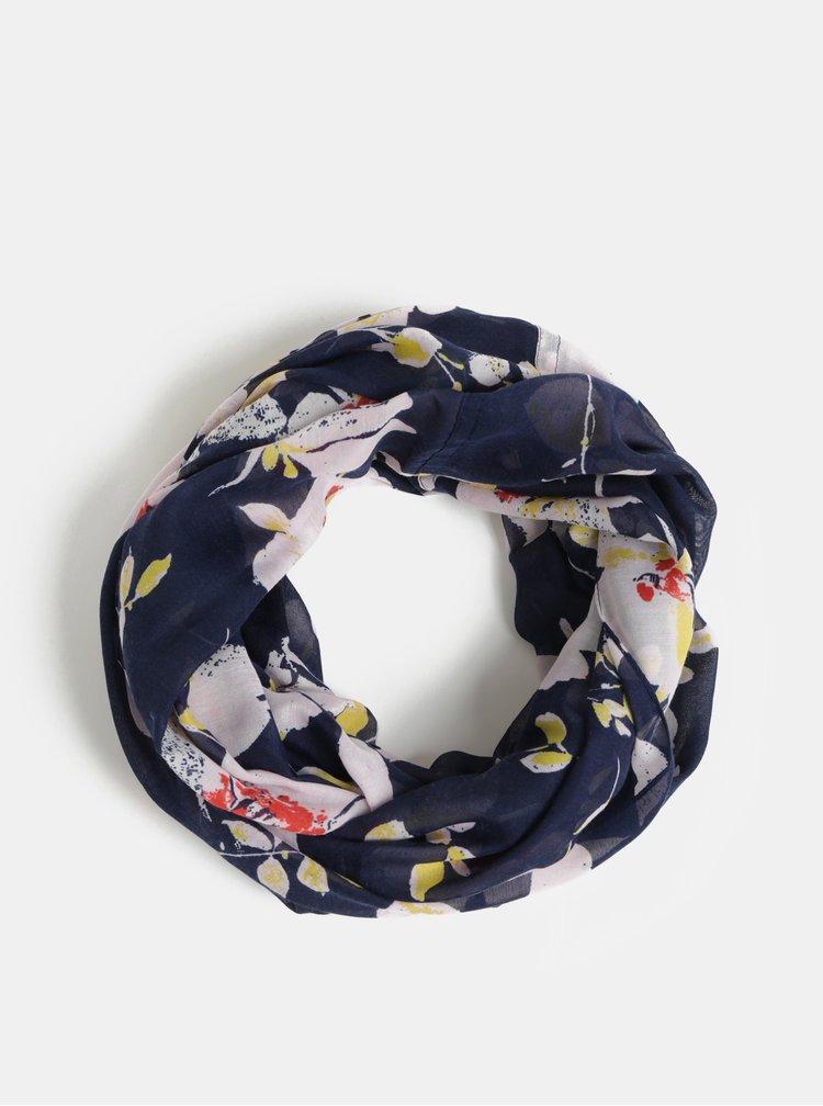 Růžovo-modrý květovaný dutý šátek Pieces Betty
