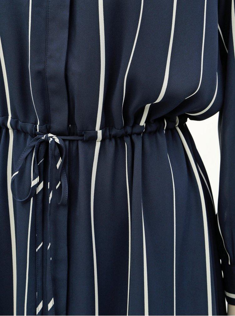 Rochie tip camasa albastru inchis in dungi Selected Femme Damina
