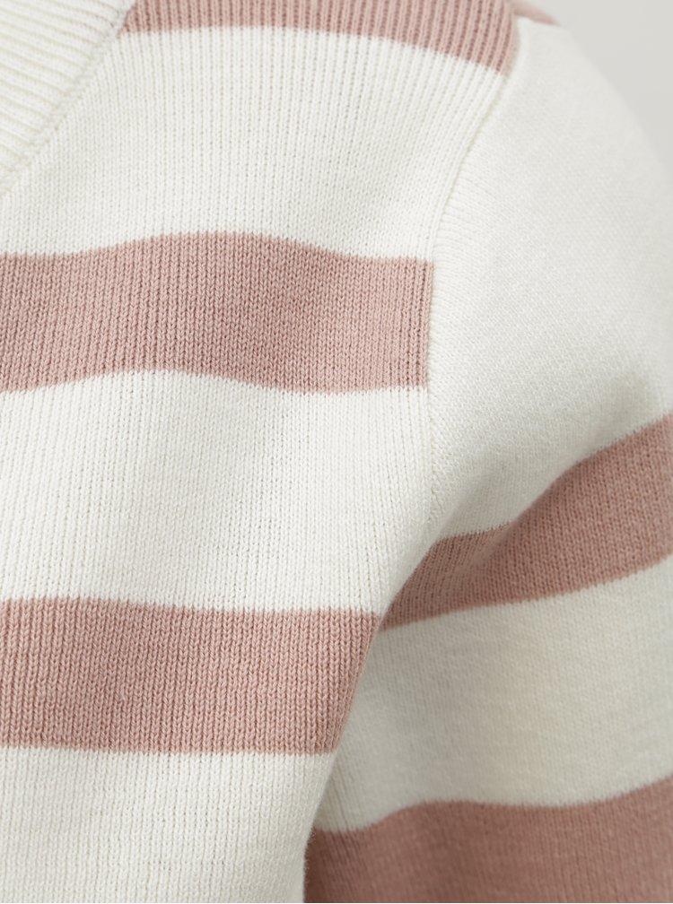 Růžovo-bíly pruhovaný basic svetr Selected Femme Falina