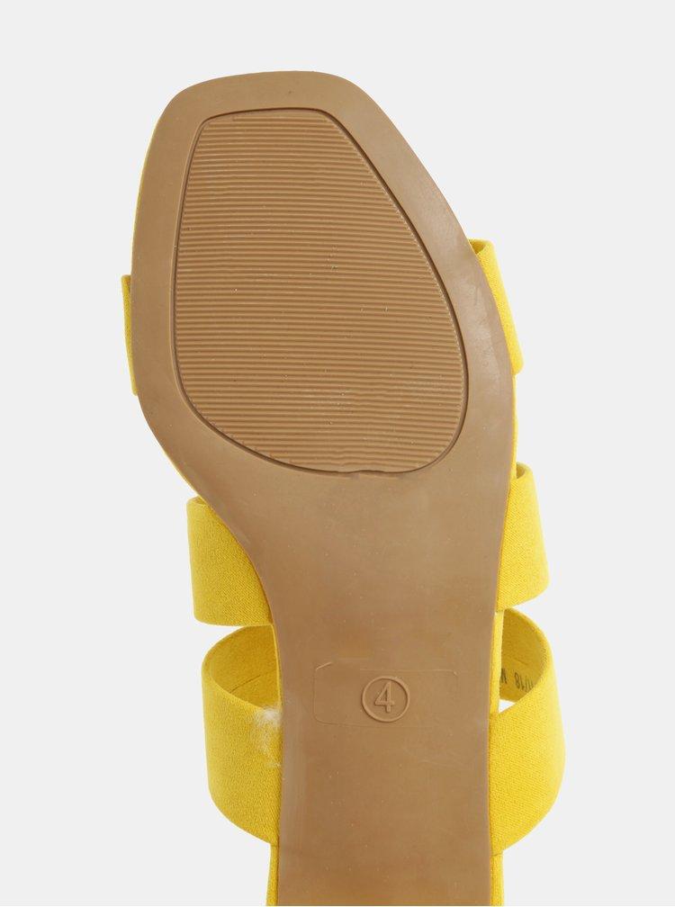 Žluté pantofle v semišové úpravě Dorothy Perkins