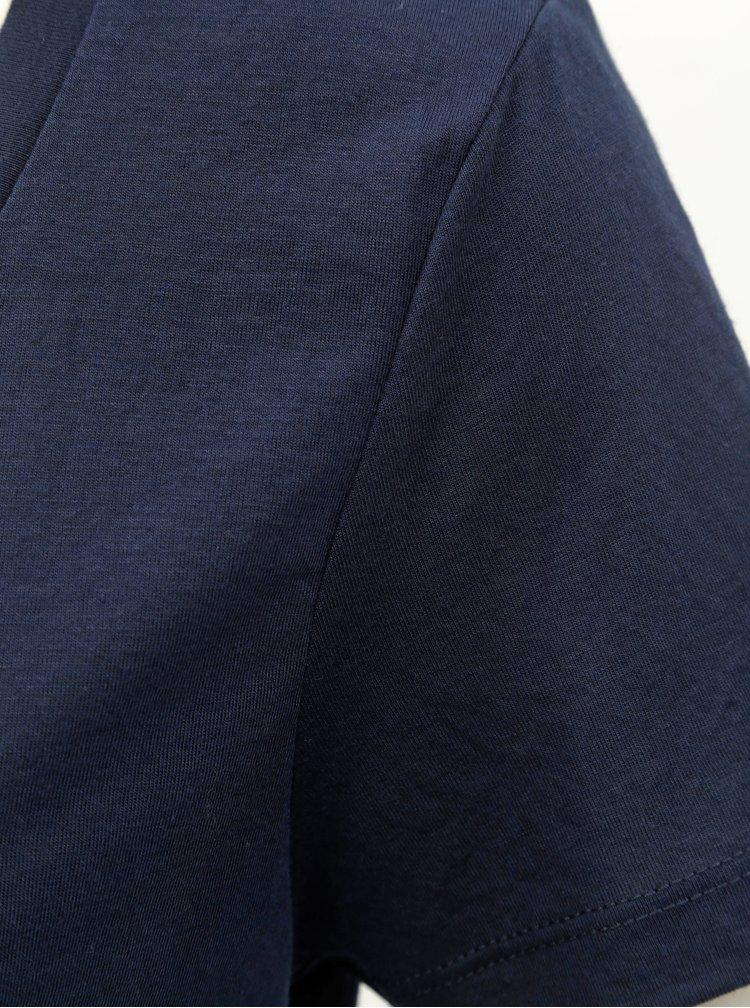 Tricou basic albastru inchis VERO MODA Spicy