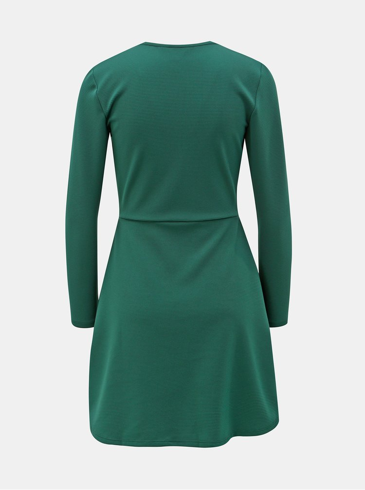 Rochie verde inchis cu striatii Miss Selfridge