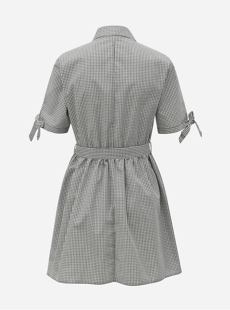 Rochie tip camasa alb-negru in carouri Miss Selfridge