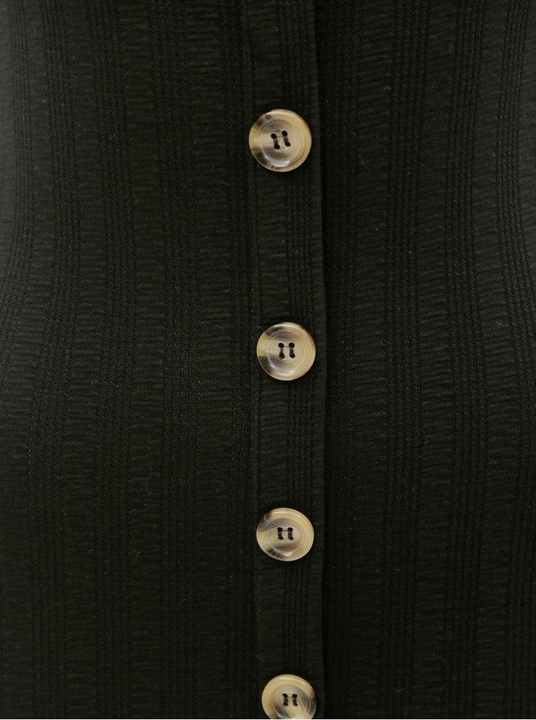 Čierne puzdrové šaty Miss Selfridge
