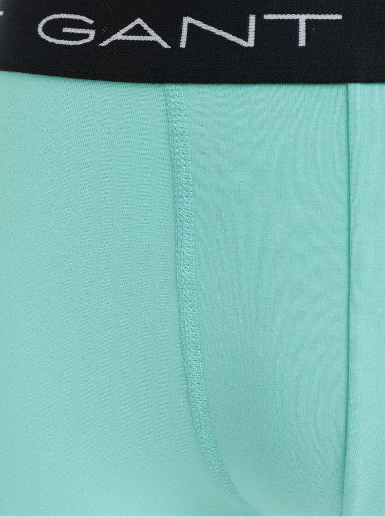 Sada tří boxerek v zelené a fialové barvě GANT