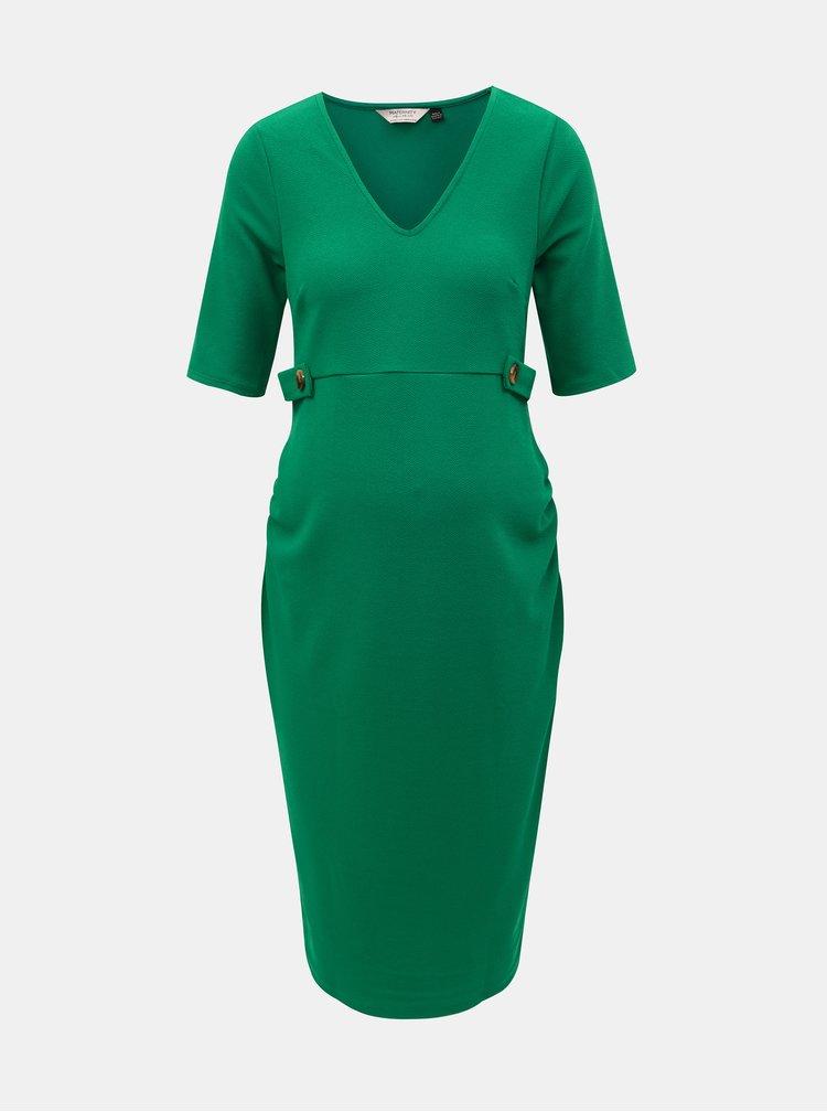 Zelené těhotenské šaty Dorothy Perkins Maternity
