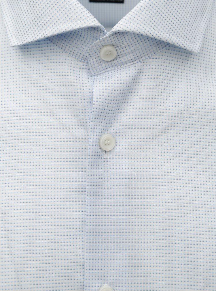 Světle modrá vzorovaná formální regular fit košile Selected Homme Sel-Alli