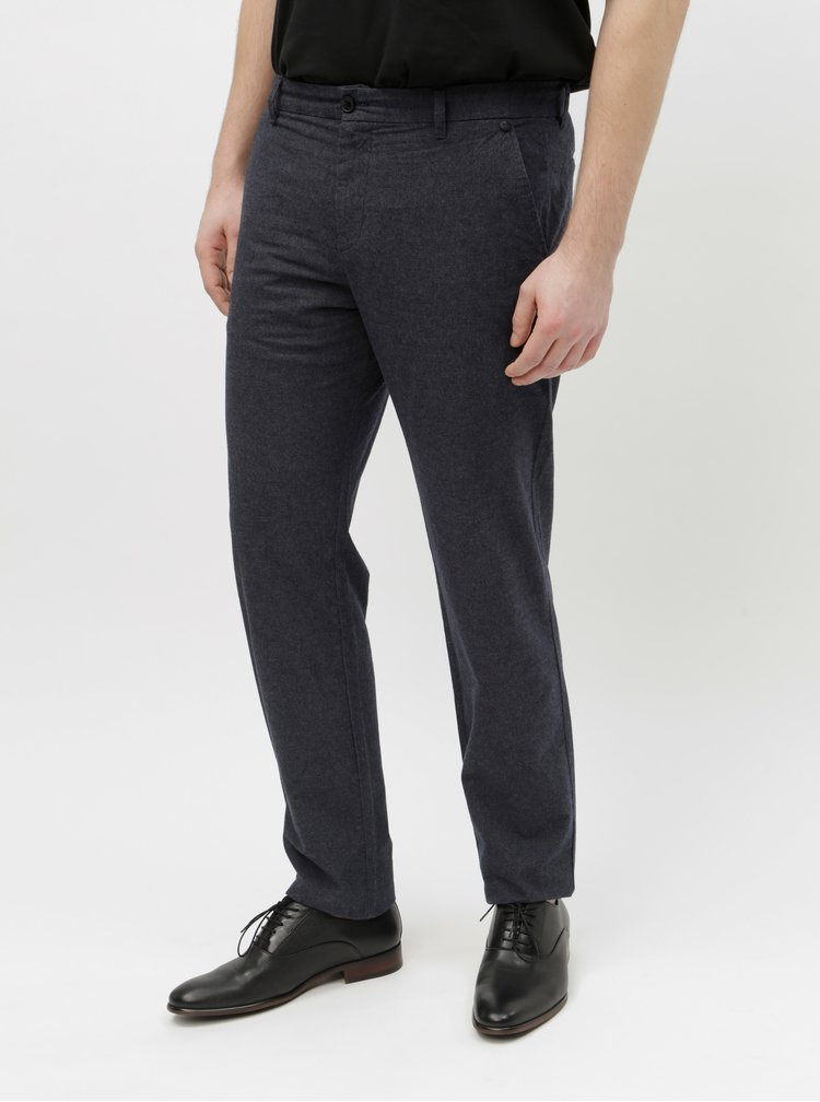 Pantaloni albastru inchis chino Selected Homme Arval