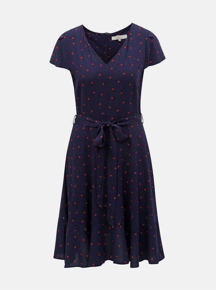 Tmavě modré šaty s motivem Billie & Blossom