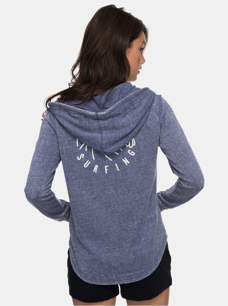 Modrá mikina na zip Roxy Sunkissed
