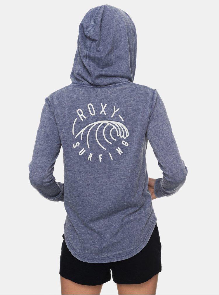 Modrá mikina na zips Roxy Sunkissed