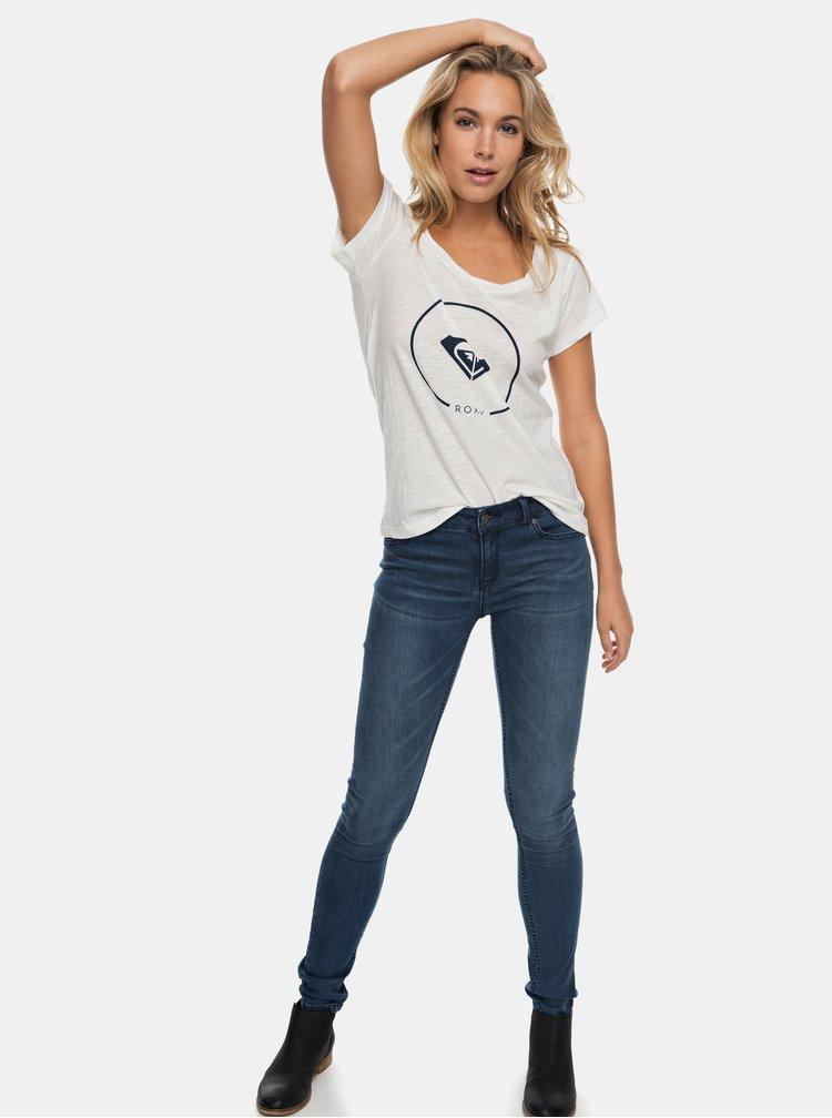 Biele tričko s potlačou Roxy Bobby