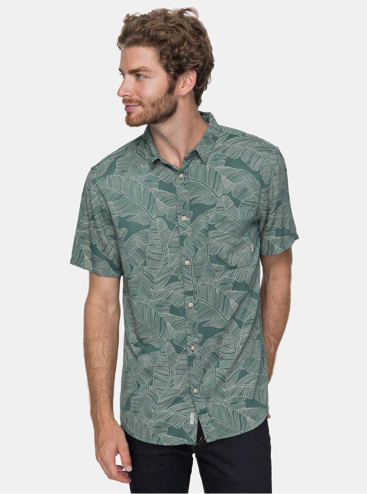 Camasa barbatesca verde modern fit cu model Quiksilver