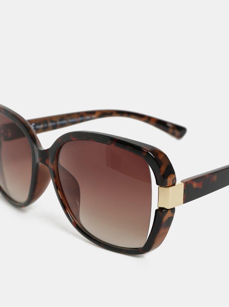 Hnědé sluneční brýle s gepardím vzorem Dorothy Perkins