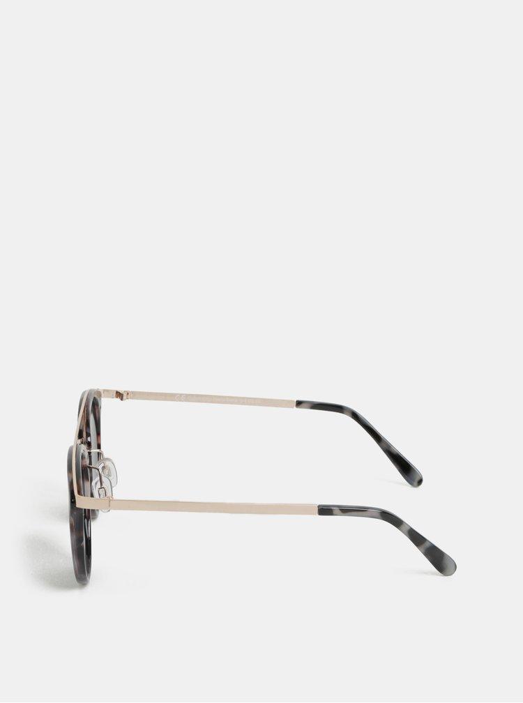 Růžovo-hnědé sluneční brýle s gepardím vzorem Dorothy Perkins