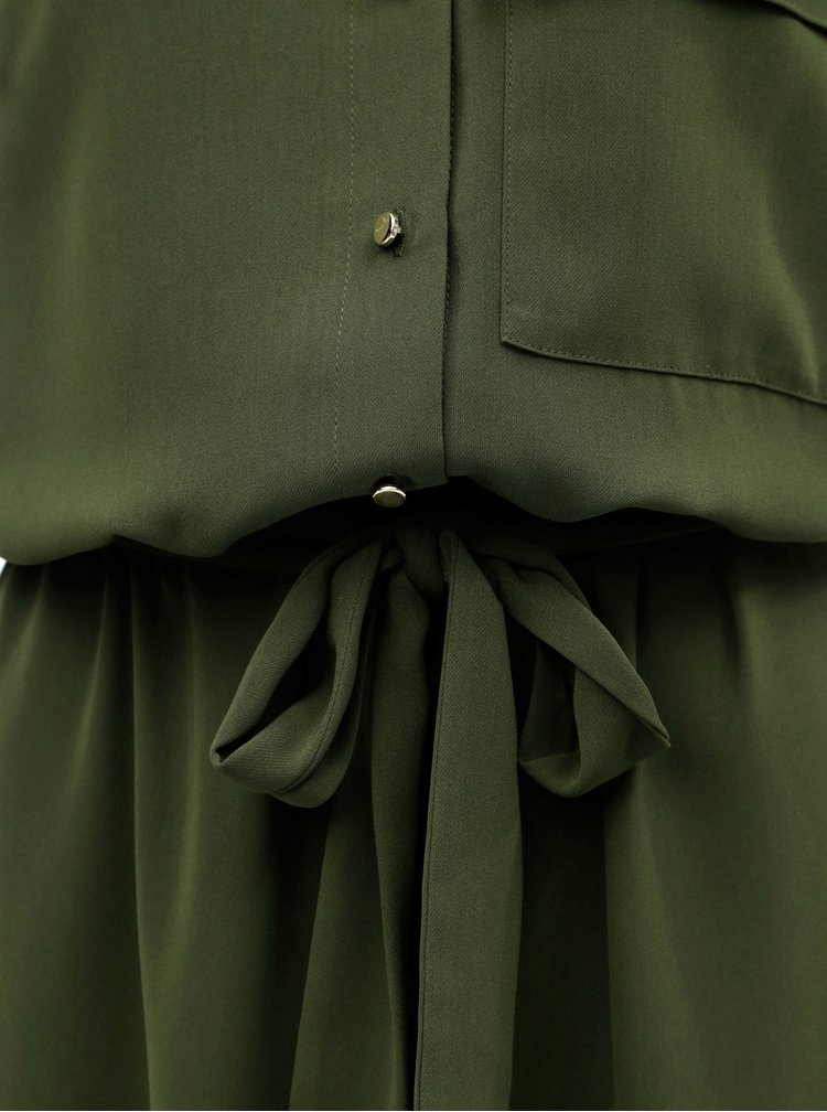 Tmavě zelené košilové šaty Dorothy Perkins Tall