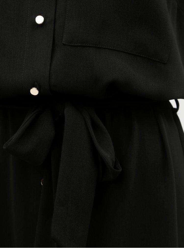 Rochie tip camasa neagra Dorothy Perkins Tall