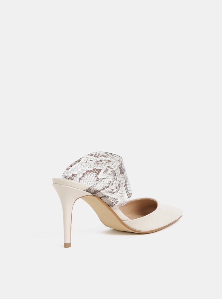 Krémové sandálky s hadím vzorem Dorothy Perkins