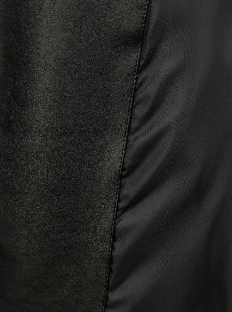 Černý koženkový křivák Dorothy Perkins Petite