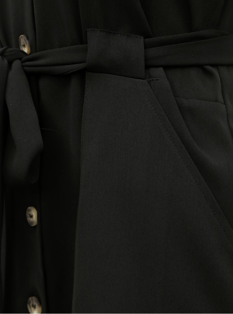Rochie tip camasa neagra cu cordon Dorothy Perkins