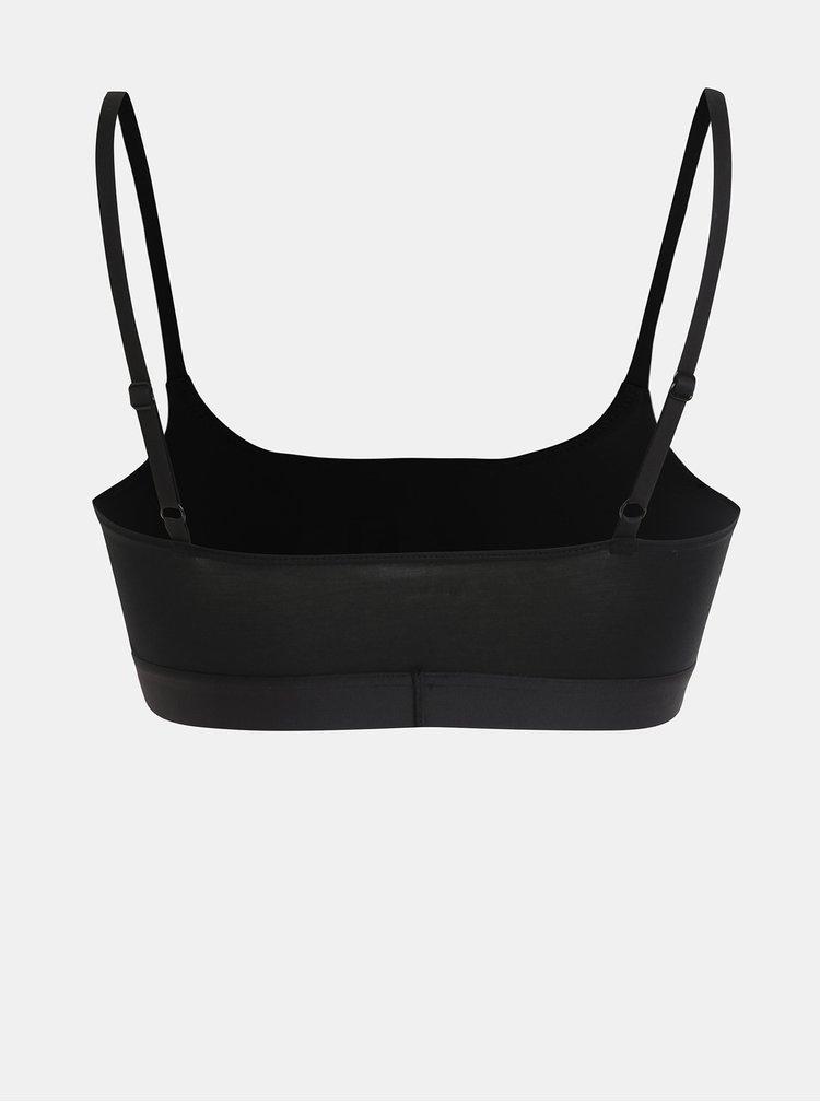 Bustiera neagra cu imprimeu DKNY