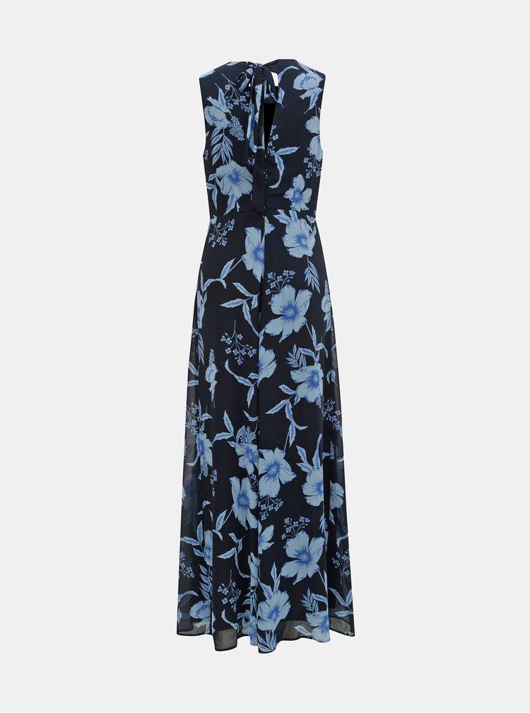 Tmavě modré květované maxišaty Dorothy Perkins