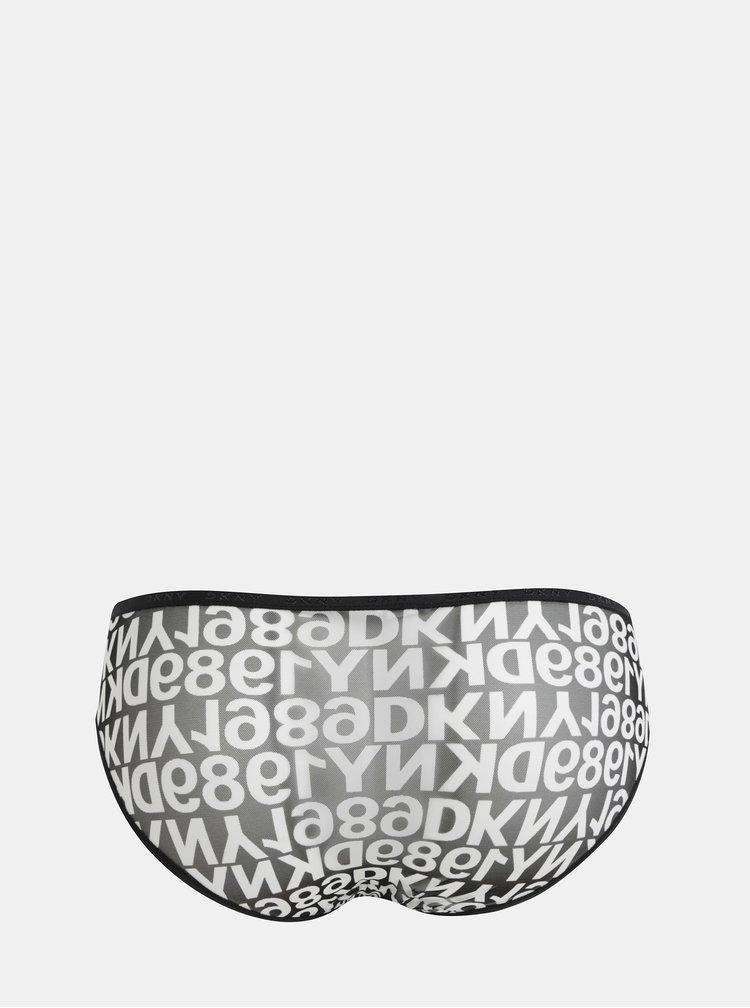 Bílo-černé vzorované kalhotky DKNY