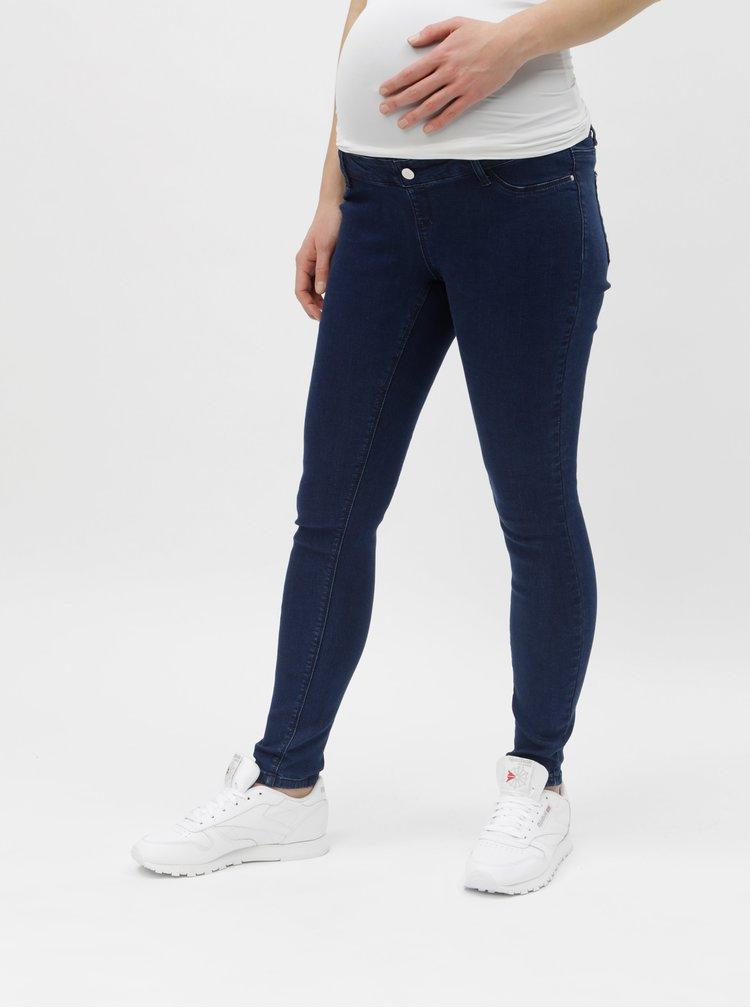 Blugi albastri skinny fit pentru femei insarcinate Dorothy Perkins Maternity