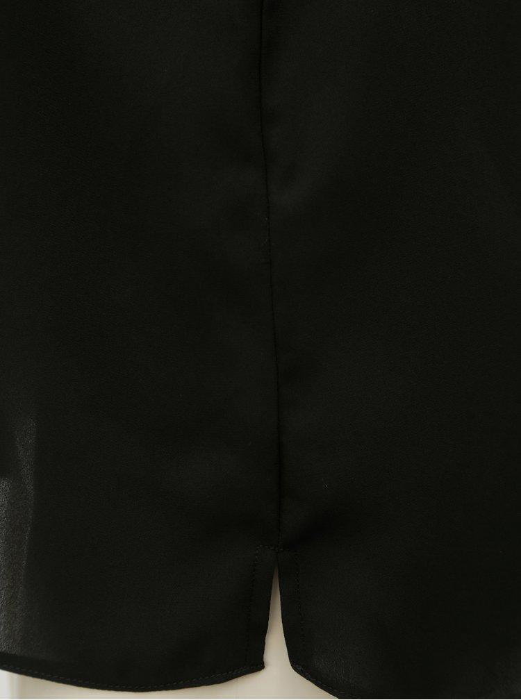 Černý top s průstřihem na zádech Dorothy Perkins